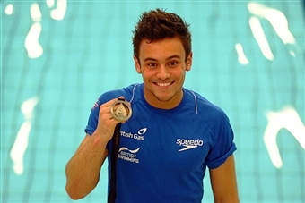 Tom Daley is set to welcome the Glasgow 2014 Queen's Baton to Britain in Jersey this weekend ©Getty Images