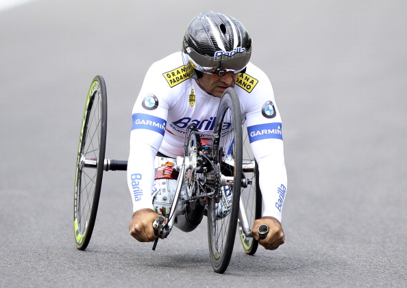 Two time London 2012 gold medal winner Alex Zanardi was on top form on home roads in Italy ©Getty Images