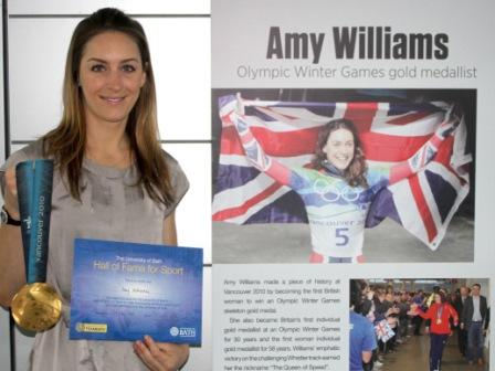 Vancouver 2010 Olympic champion Amy Williams has become the first women to be inducted into the University of Bath Sporting Hall of Fame ©davidroperphotography