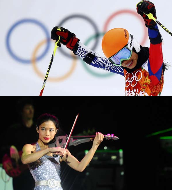 Vanessa Mae, one of the world's greatest violinists who competed for Thailand in Alpine skiing at Sochi 2014, is part of the workign group on culture ©Getty Images