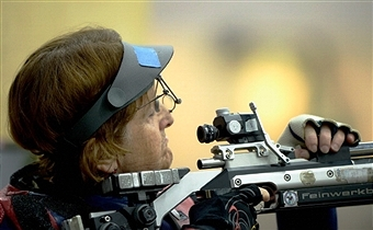 Veteran Deanna Coates of Britain rolled back the years with a fine display at the IPC Shooting World Cup in Szczecin ©Getty Images