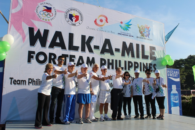 The Philippines Olympic Committee hosted a special Walk-A-Mile event for its Incheon 2014 athletes ©OCA