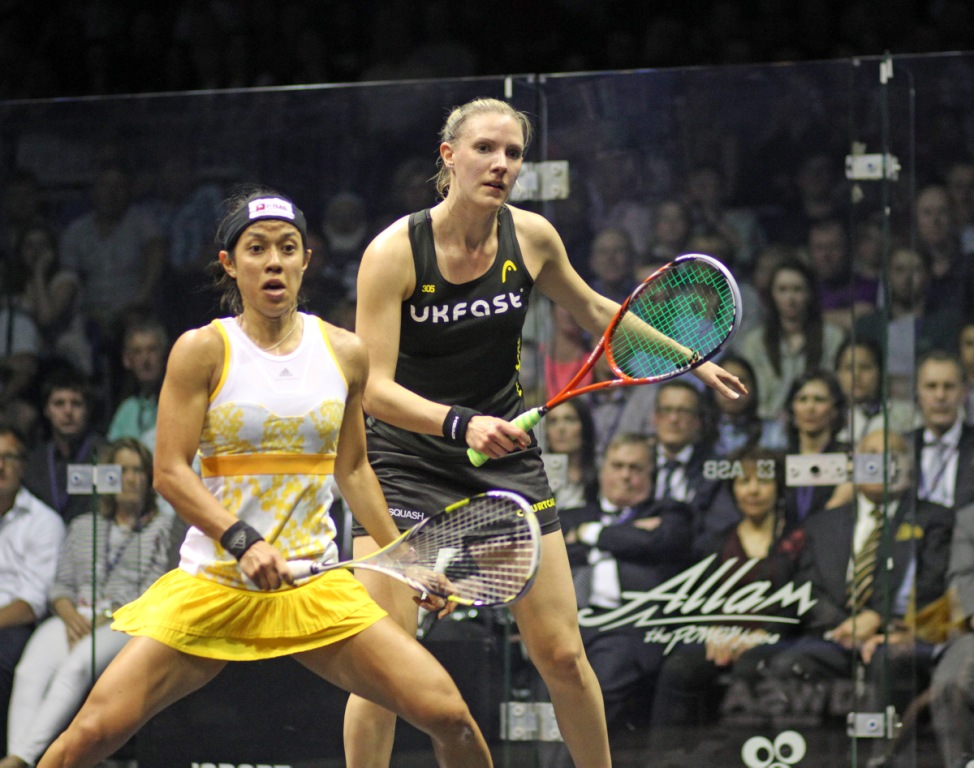 Nicol David had to fight from behind to regain her British Open title from Laura Massaro ©squashpics.com