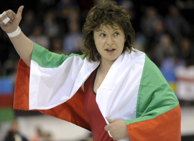 Wrestler Stanka Zlateva was one of only two Bulgarian athletes to win a medal at London 2012 ©AFP/Getty Images