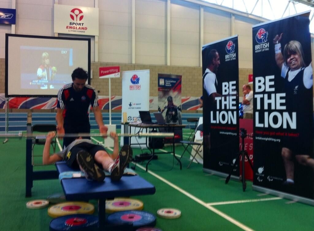 Hundreds of people tried their hand at a Paralympic sport at the Sports Fest, including powerlifting ©British Weight Lifting/Twitter