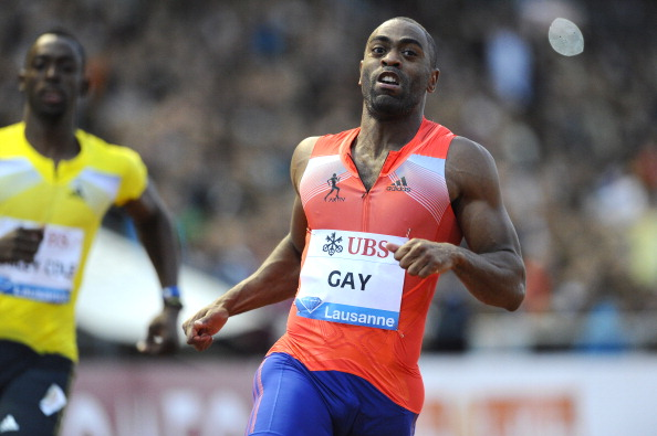 Tyson Gay running in Lausanne on July 4 last year - ten days later news of his positive test at the US Championships emerged ©AFP/Getty Images