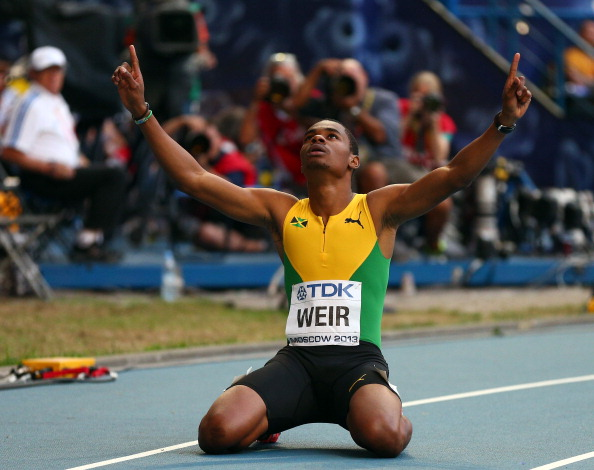 Warren Weir is part of a strong Jamaican team with world records in mind at the forthcoming IAAF World Relays in Nassau ©Getty Images