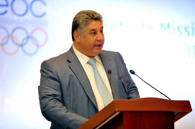 Azad Rahimov, Azerbaijan's Minister of Youth and Sports and Baku 2015 chief executive, addressed the Chef de Missions at the start of their trip to inspect facilities for the first-ever European Games ©Baku 2015