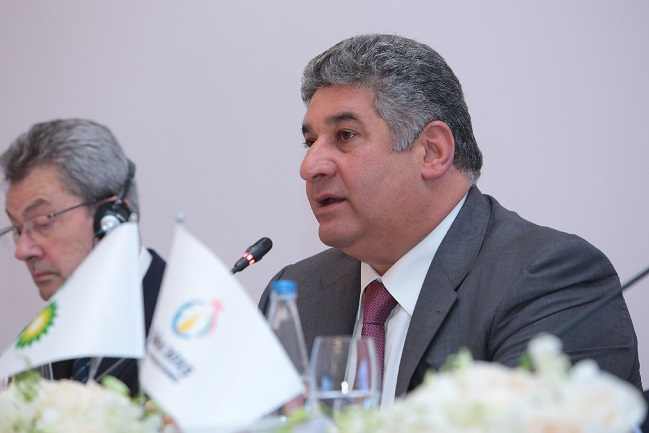 Azerbaijan's Minister of Youth and Sports and Baku 2015 Azad Rahimov is excited by the announcement of BP as a sponsor of the European Games ©Baku 2015
