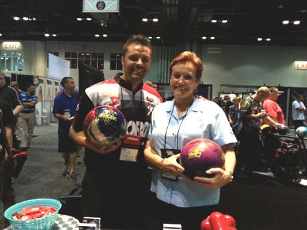 Storm co-owner Barbara Chrisman and bowler Jason Belmonte left me in no doubt about just how much skill you need to bowl at a high level ©insidethegames.biz