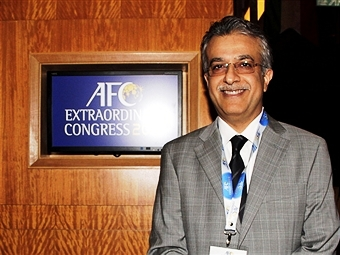 Bahrain's Sheikh Salman bin Ebrahim al Khalifa has managed to push through his plans to merge the AFC Presidency with the FIFA vice-Presidents role ©Getty Images