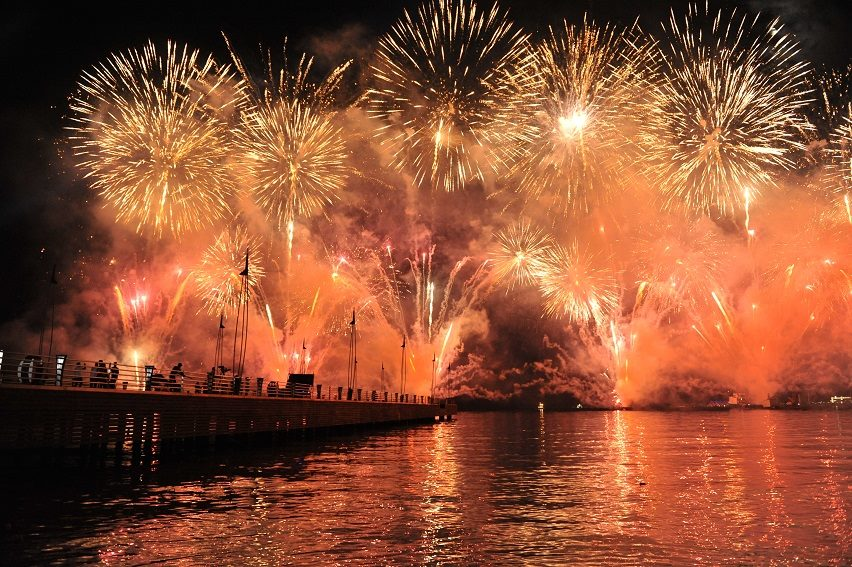 The announcement BP were to sponsor Baku 2015 coincided with the One Year To Go celebrations until the start of the European Games, which had started at midnight with a spectacular firework display ©Baku 2015