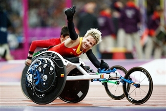 Belgian Marieke Vervoort is among five athletes nominated for the IPC Athlete of the Month award for May ©Getty Images