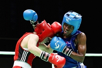 Britain's Nicola Adams has been knocked out of the European Women's Boxing Championships in a shock defeat at the quarter-final stage ©Getty Images