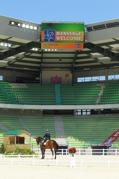 Carl Hester has praised the World Equestrian Games dressage test event in Caen ©FEI