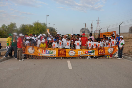 A number of fun runs across the country marked this year's Olympic Day in Oman ©McDonald's Asia