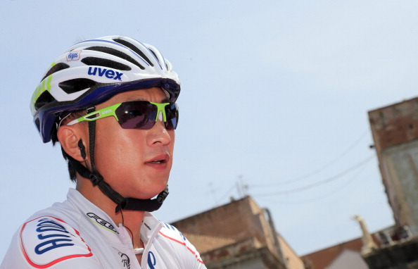 Cheng Ji will make history by becoming the first Chinese rider to take part in the Tour de France ©AFP/Getty Images