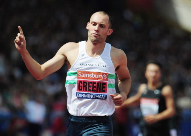 Dai Greene will be out to defend his Commonwealth Games 400m hurdles title at Hampden Park during Glasgow 2014 ©Getty Images