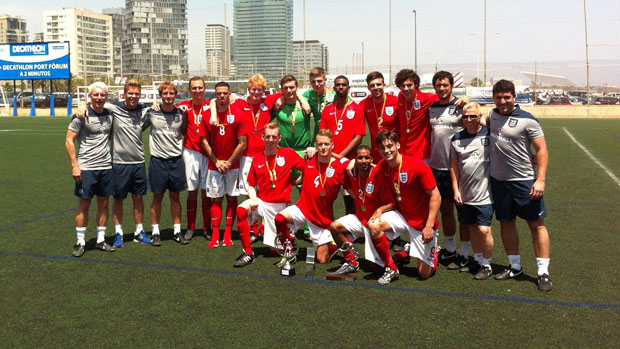 England's cerebral palsy football team has secured the International Trophy ©The FA