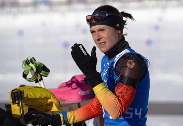 German biathlete Evi Sachenbacher-Stehle failed a drugs test at the Sochi 2014 Winter Olympic Games ©Getty Images