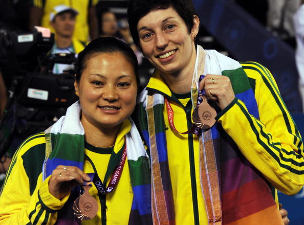 He Tian Tang and partner Katie Wilson-Smith won Australia's only badminton medal at the 2010 Commonwealth Games in Delhi with bronze in the women's doubles event ©Getty Images