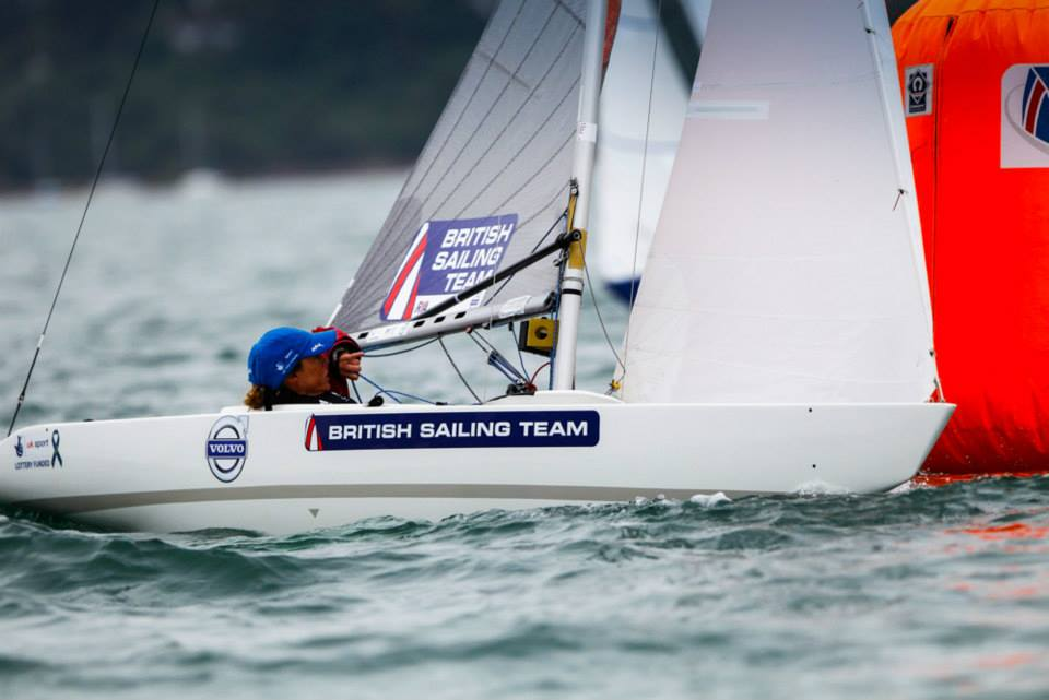 Helena Lucas took an early lead in the 2.4mR class on the opening day of the Sail for Gold regatta in Weymouth ©Facebook