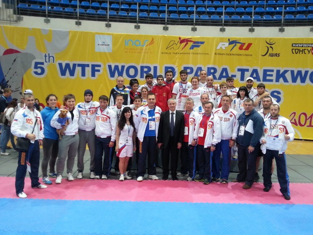Hosts Russia have clinched the men's overall medal title at the 5th WTF World Para-Taekwondo Championships in Moscow ©ITG