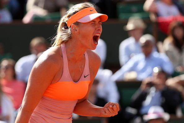 Maria Sharapova booked a spot in her third straight French Open final with victory against Eugenie Bouchard ©Getty Images