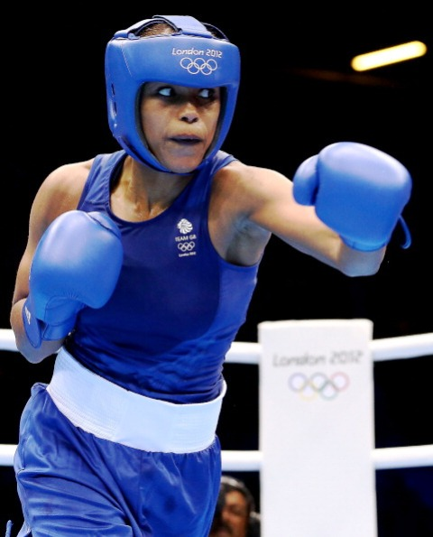 Natasha Jonas is relishing the opportunity to box in front of boxing fans in Glasgow where she hopes the atmosphere will be similar to that at London 2012 ©Getty Images