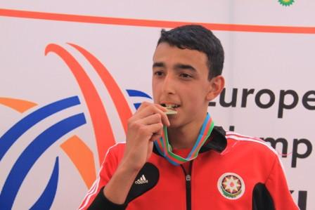 Nazim Babayev won a gold medal for Azerbaijan with a Championship Record breaking leap in the triple jump ©Baku 2015