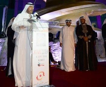 OCA President Sheikh Ahmad Al-Fahad Al-Ahmed Al-Sabah has inaugurated the Martyrs' Monument in Kuwait City ©OCA