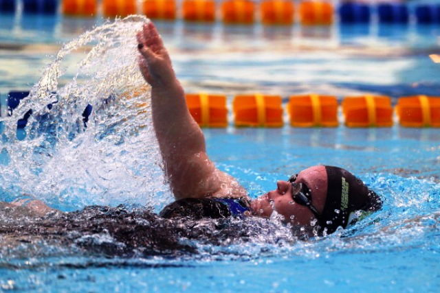 Simmonds says she hopes her new book will inspire youngsters to use swimming to overcome barriers just as she has done ©Getty Images