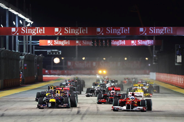Telecommunications company SingTel are a major supporter of big events in Singapore, including the annual Formula One race ©Getty Images