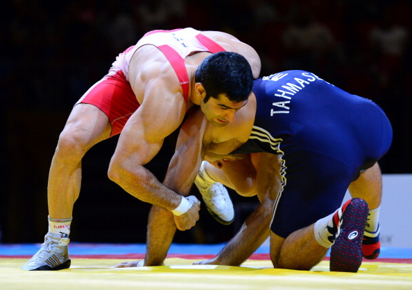 Taleb Nematpour won gold in the Greco-Roman 84kg class at the 2013 World Championships in Budapest, Hungary ©Getty Images