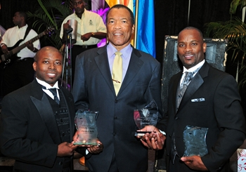 The Bahamas Olympic Committee saw two of its top officials honoured at the Flamingo Ball today ©BOC