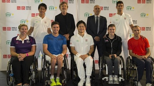 The ITF has signed a three-year partnership agreeement with UNIQLO naming the company sponsor of some of the body's major properties ©ITF