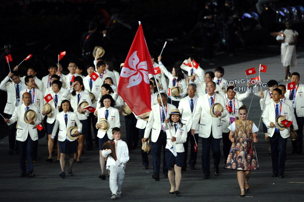 The Sports Federation & Olympic Committee of Hong Kong led a presentation Ceremony to honour athletes who have worked to develop their English language skills ©Getty Images