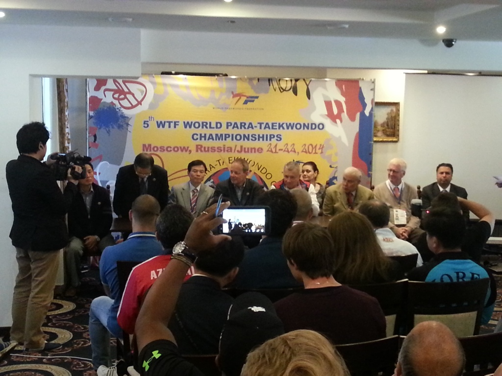 The final draw and competition details were explained at the Kassado Plaza Hotel in Moscow today ahead of the 5th WTF World Para-Taekwondo Championships ©ITG