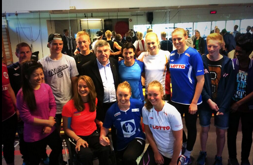 Young Norwegians, such as those who met IOC President Thomas Bach during a visit last month, are seen as key ©Twitter