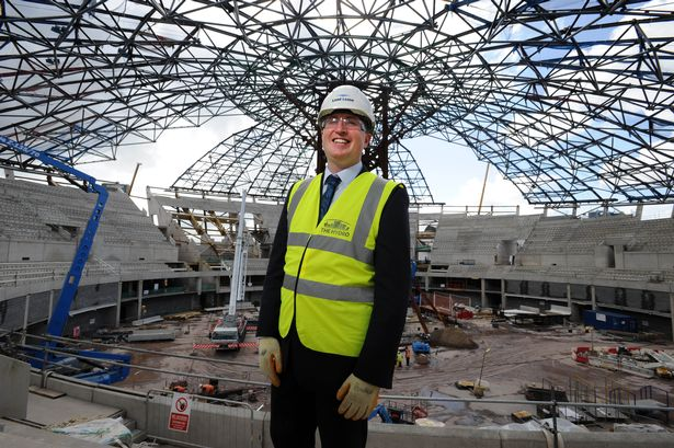 Tom Doyle oversaw the construction of the new SSE Hydro Arena in Glasgow, a prestigious venue for this year's Commonwealth Games ©SSE Hydro Arena