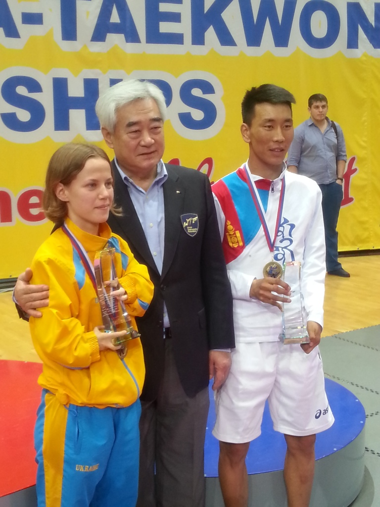 Ukraine's Viktoriia Marchuk and Mongolia's Bolor-Erdene Ganbat were named best female and male competitors at the Championships in Moscow ©ITG
