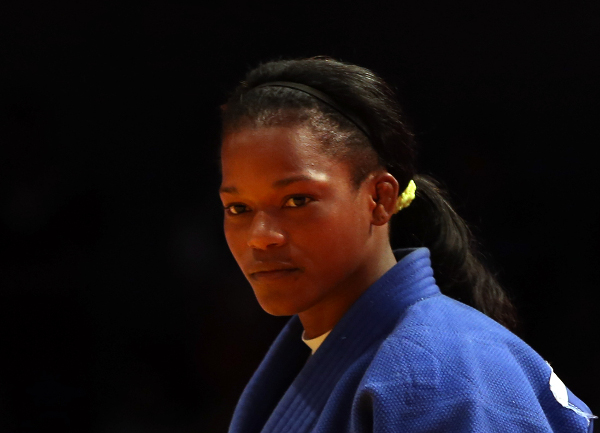 Yanet Bermoy Acosta secured a second gold medal of the day for the hosts as she went uncontested in the women's under 52kg final following the withdrawal of Erika Miranda due to a shoulder injury ©IJF