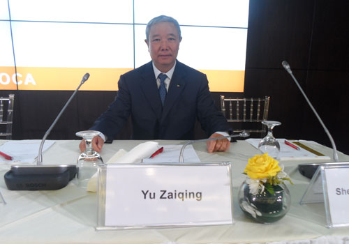 Yu Zaiqing has been nominated as an Association of National Olympic Committees vice-president ©OCA