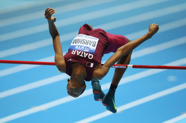 Mutaz Essa Barshim won the Rome Diamond League meeting with a high jump of 2.41m ©AFP/Getty Images