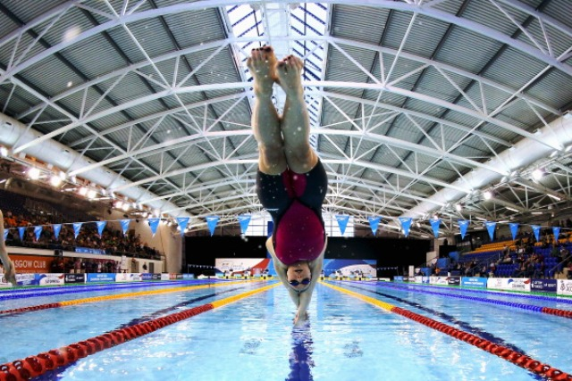 Around 5,000 children will get the opportunity to attend events free at Glasgow 2014 including some of the swimming competitions at the Tollcross International Swimming Centre ©Getty Images