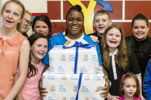 Glasgow 2014 ambassador Nicola Adams helped launch the Gift of the Games ticketing scheme in Glasgow today ©Glasgow 2014