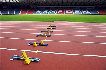 Hampden Park will get its first taste of athletics action with the Scottish Schools Athletics Championships ©AFP/Getty Images