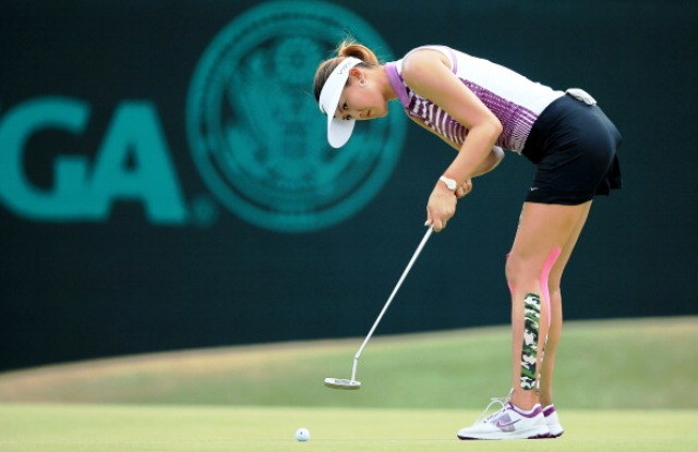Michelle Wie endured a frustrating day at Pinehurst which saw her drop four shots on the back-nine ©Getty Images