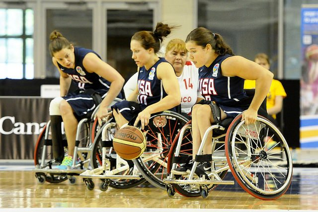 The United States secured their third win in Toronto by hammering Peru 93-14 ©Wheelchair Basketball Canada