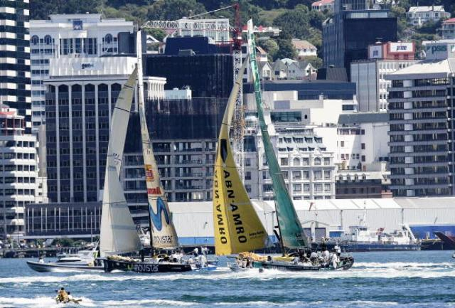 Wellington Harbour will provide the backdrop for next year's World Water Ski Racing Championships ©Getty Images